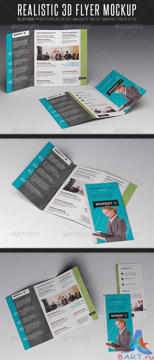 GraphicRiver Realistic Flyer MockUp