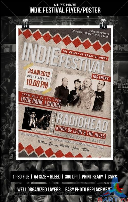 GraphicRiver Indie Festival Flyer / Poster