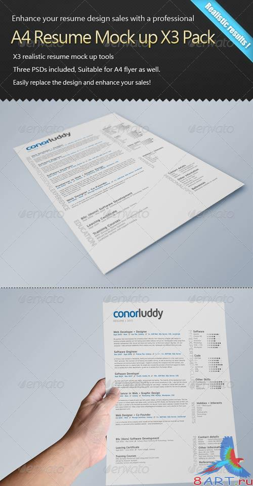 GraphicRiver Resume Mock up X3 Pack - CV Mock-up
