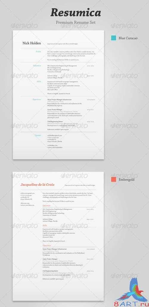 GraphicRiver Resumica Resume Set