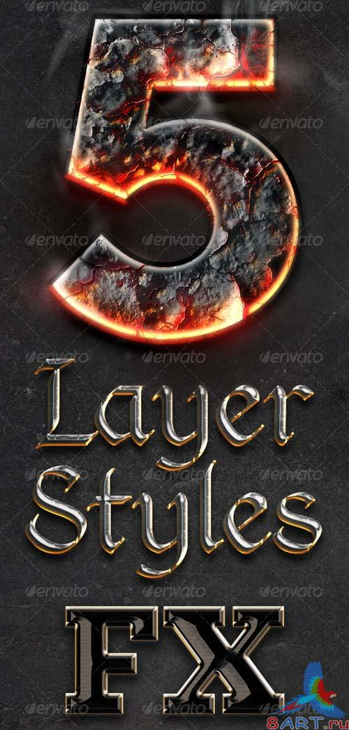 GraphicRiver Chrome & Fire - Gothic Medieval Layer Styles Fx
