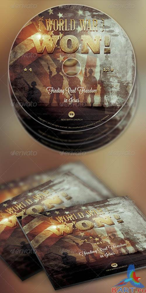 GraphicRiver World War Won! Flyer and CD Template