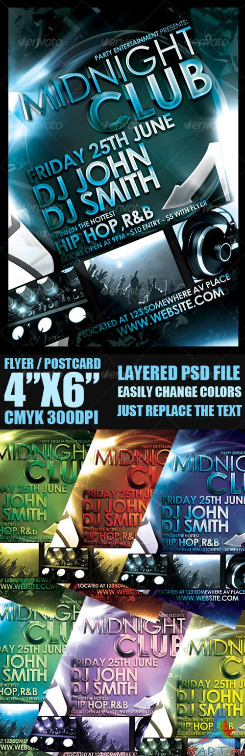 GraphicRiver - Midnight Club Event Flyer Template