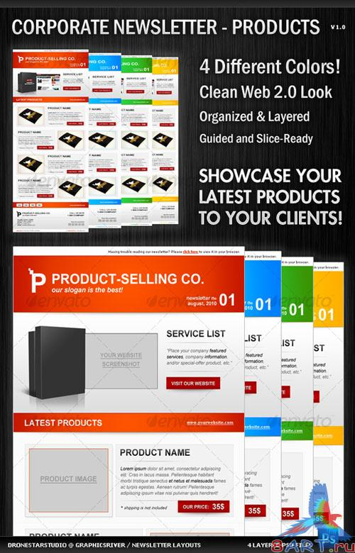 Corporate Newsletter Layout – Product Showcase - GraphicRiver