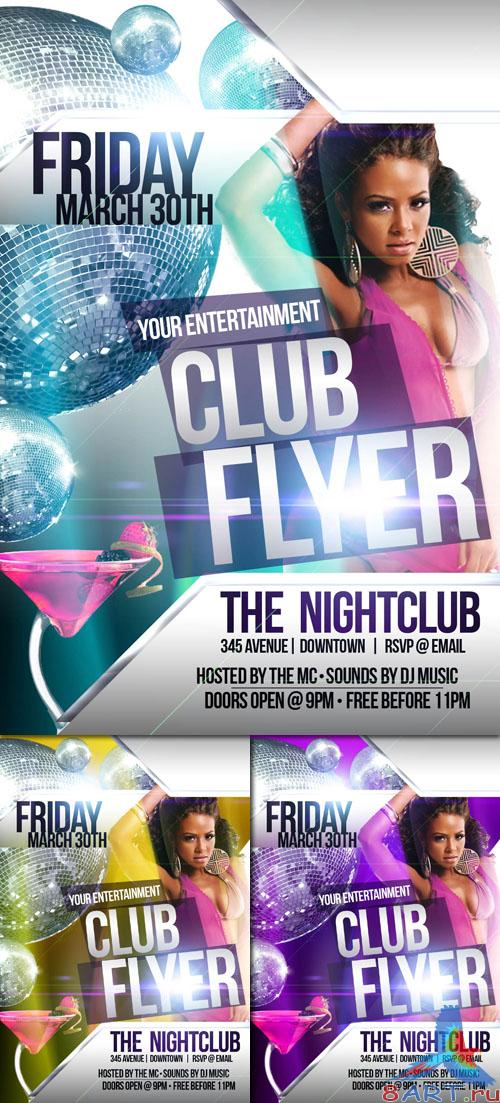 PSD Template - Club Flyer/Poster