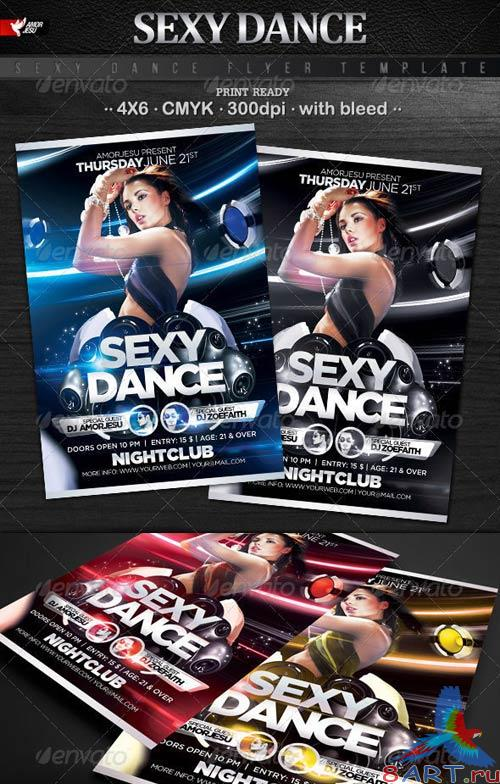 GraphicRiver Sexy Dance Flyer Template