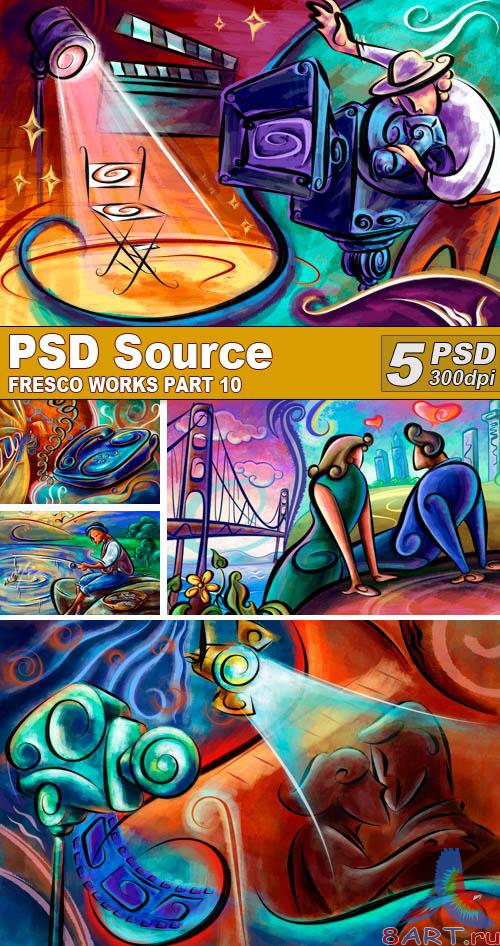 PSD Illustrations - Fresco works 10