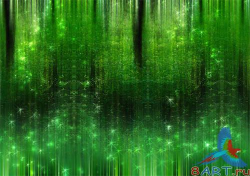 PSD - Green Fantasy Forest