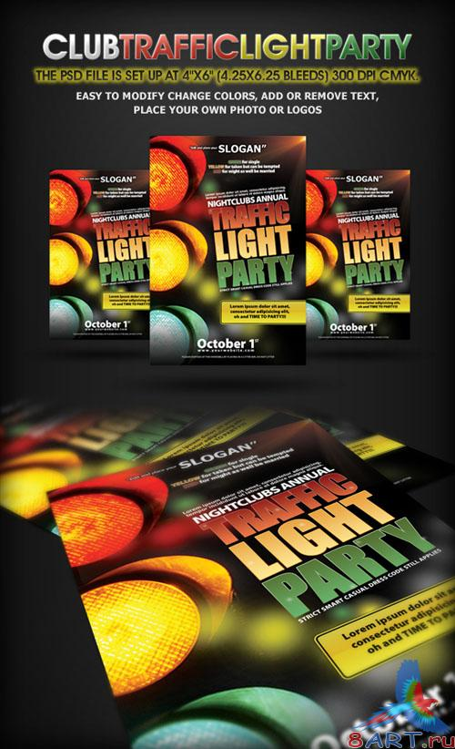 GraphicRiver Traffic Light Party Nightclub Flyer