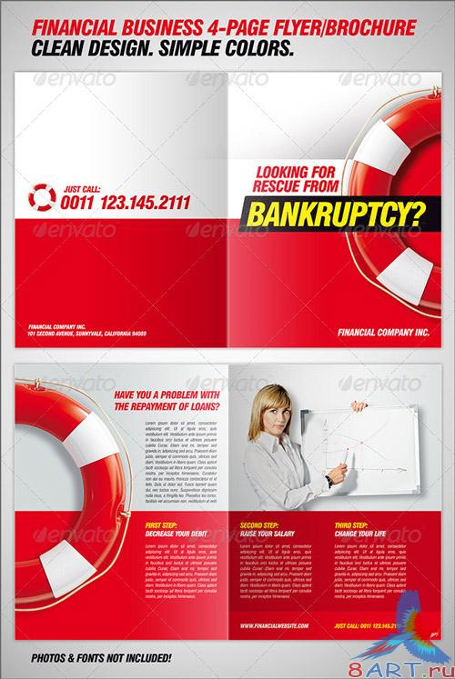 Bankruptcy Flyer Financial Brochure Template - GraphicRiver