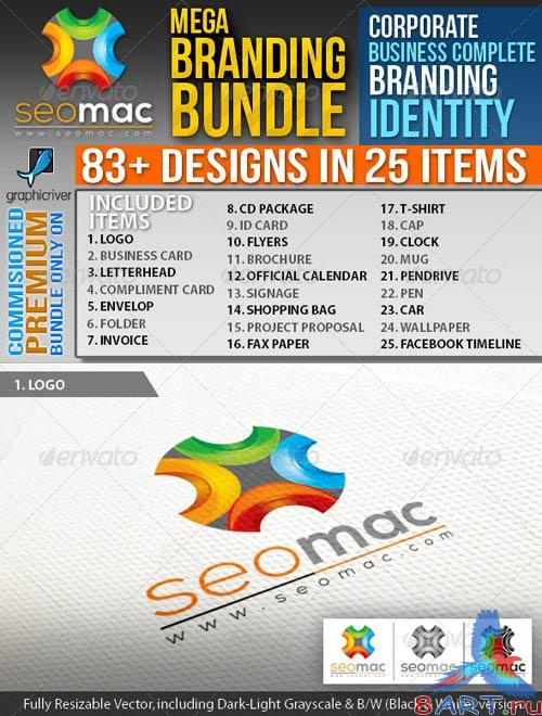 GraphicRiver SeoMac_Corporate Business ID Mega Branding Bundle