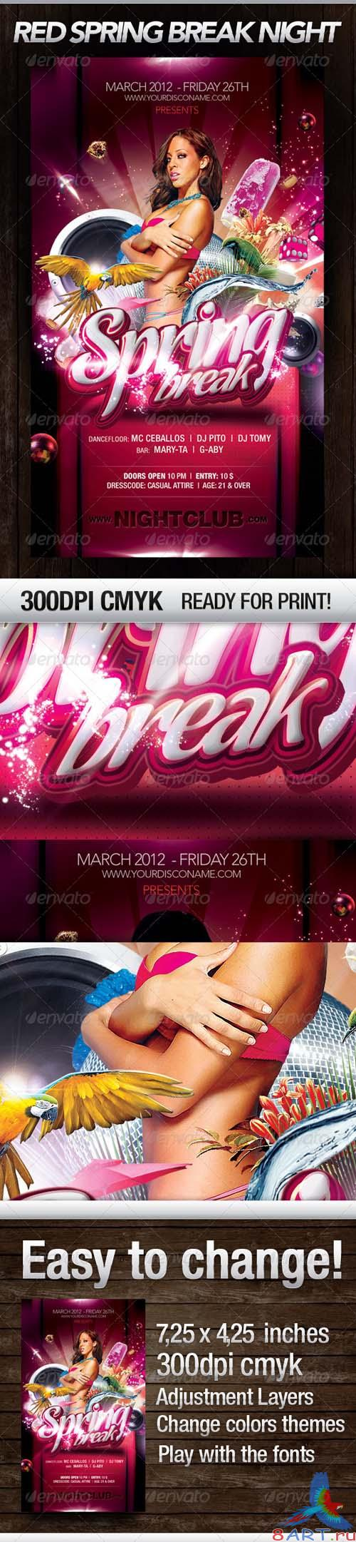 GraphicRiver Red Spring Break Nights - REUPLOAD
