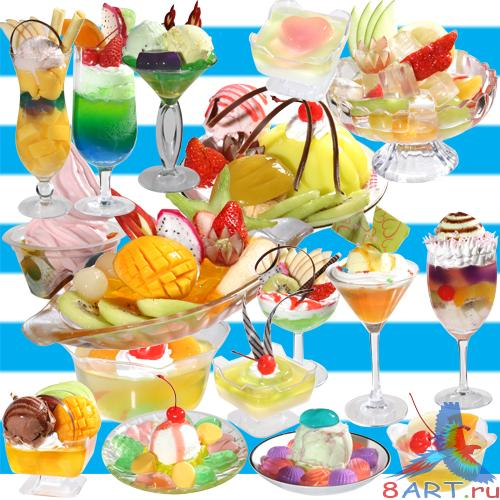 PSD Clipart Ice cream cocktail