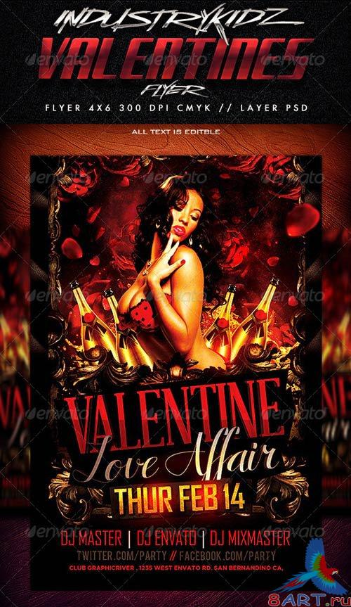 GraphicRiver Valentine Affair Party Template 3772964