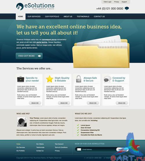 Business Corporate Website Template - Mdialoot