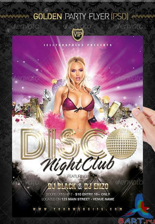 GraphicRiver Golden Party Night Flyer Template