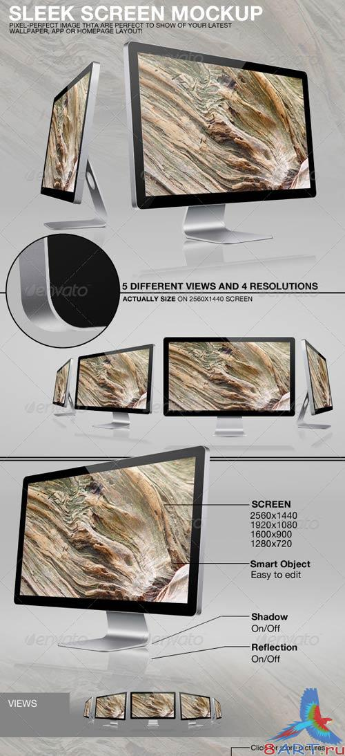 GraphicRiver Sleek Screen Mockup Template