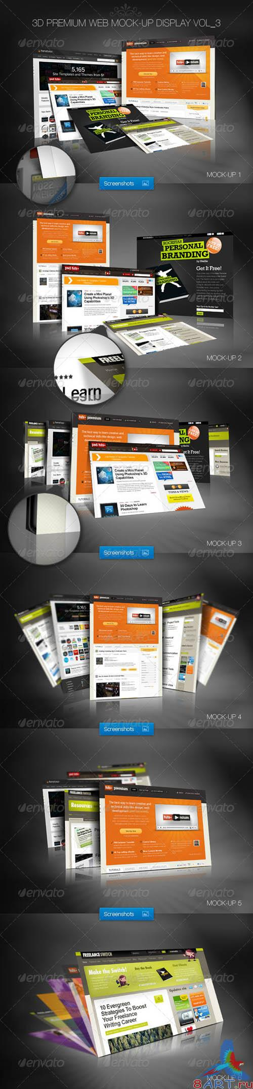 GraphicRiver 3D Premium Web Mock-Up Display Vol_3 - REUPLOAD