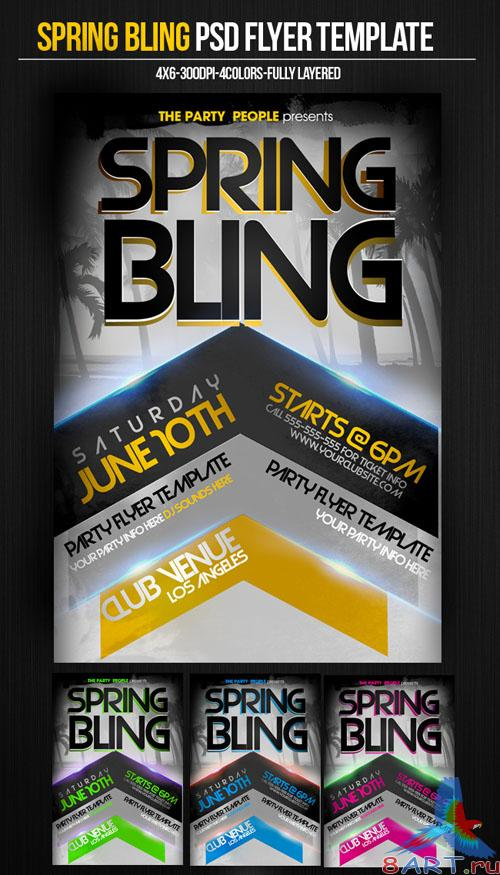 PSD Template - Spring Bling Flyer/Poster