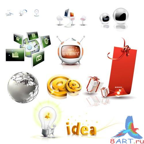 PSD Source - Everyday Things Cliparts 2