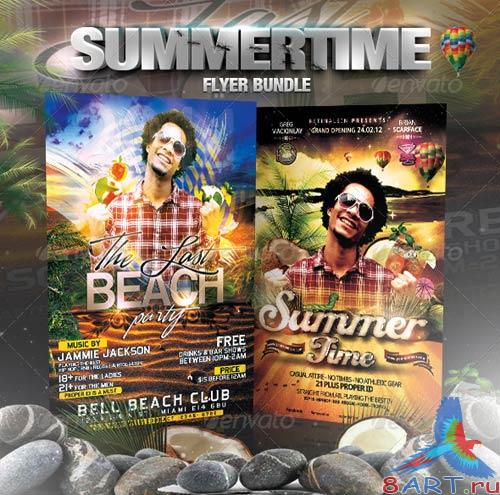 GraphicRiver Summertime Flyer Bundle - 5in1
