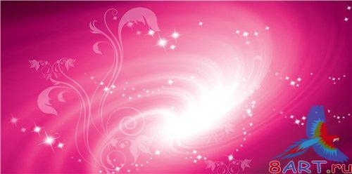 PSD - Floral Pink Bright Background