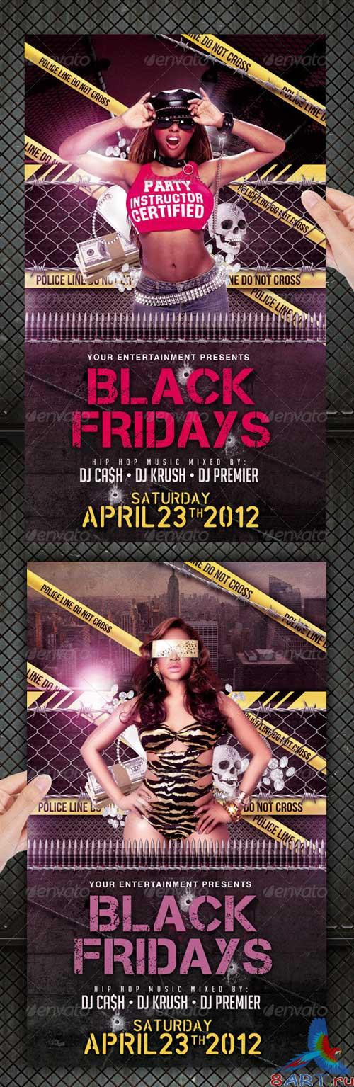 GraphicRiver Black Friday Hip Hop Party