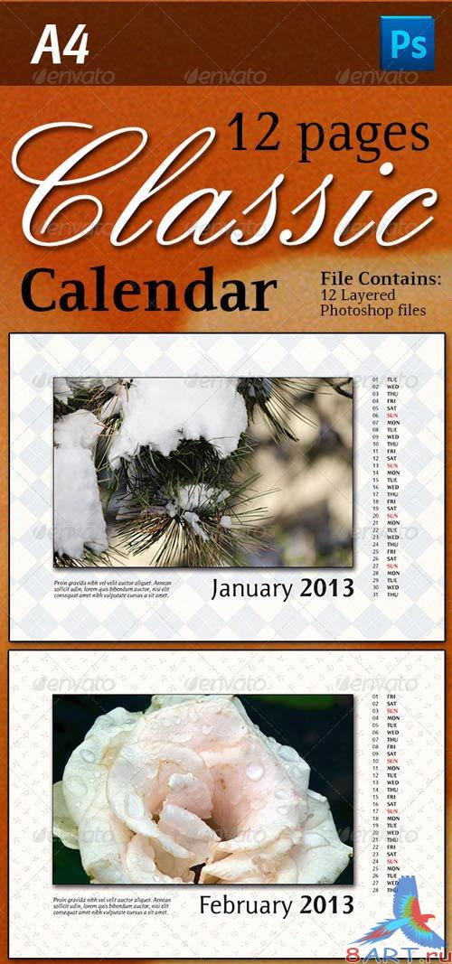 GraphicRiver 12 Pages Classic Calendar