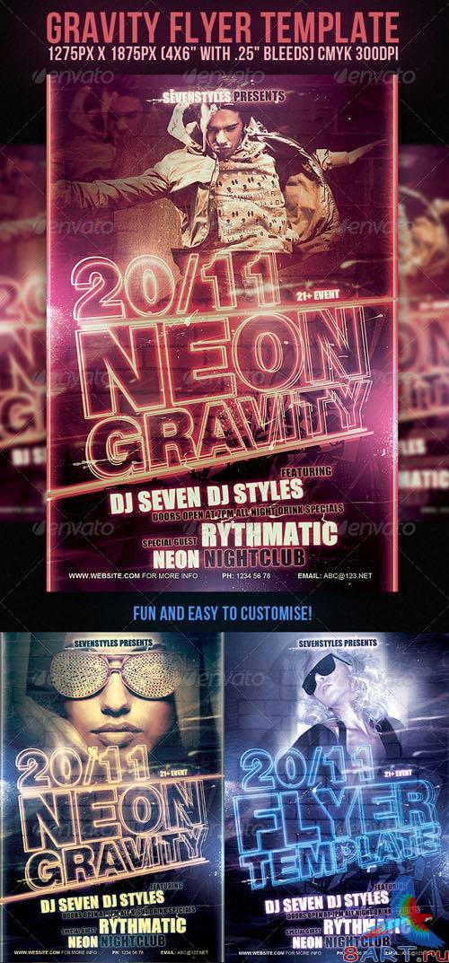 GraphicRiver Gravity Party Flyer