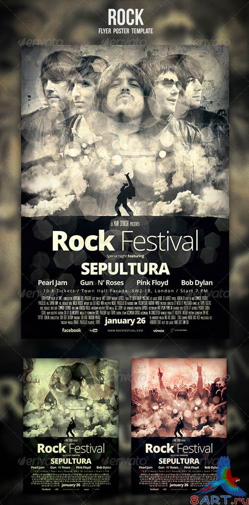 GraphicRiver Rock Flyer / Poster 3