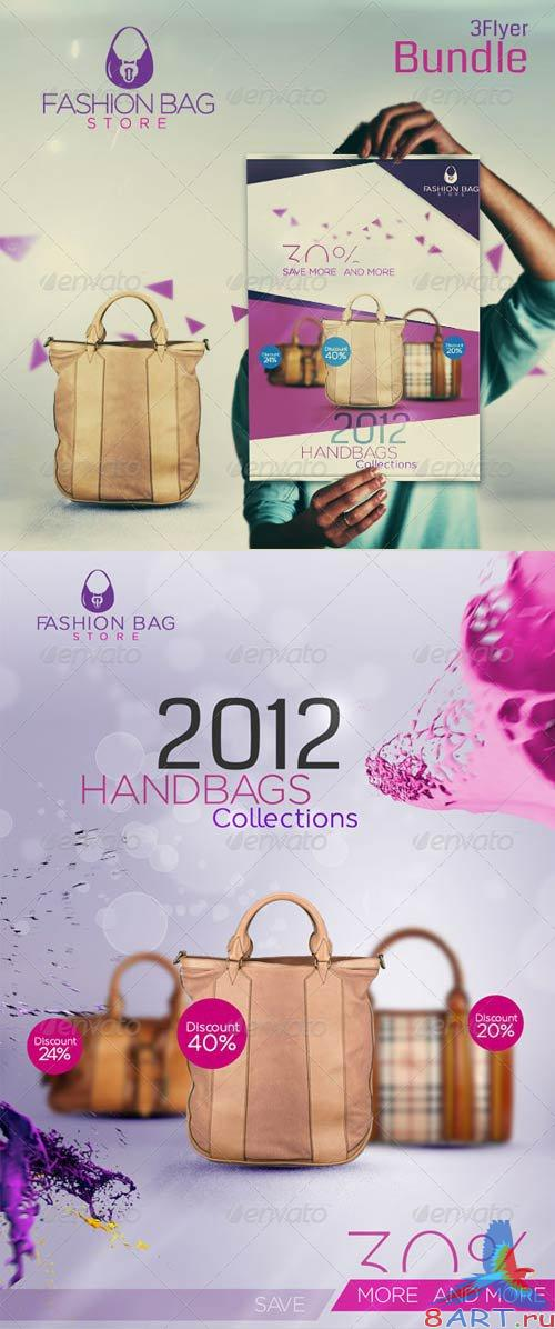 GraphicRiver Fashion Bag 3 Unique Flayer