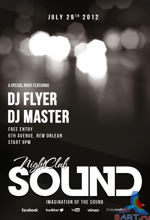 PSD Template - Sound Flyer/Poster