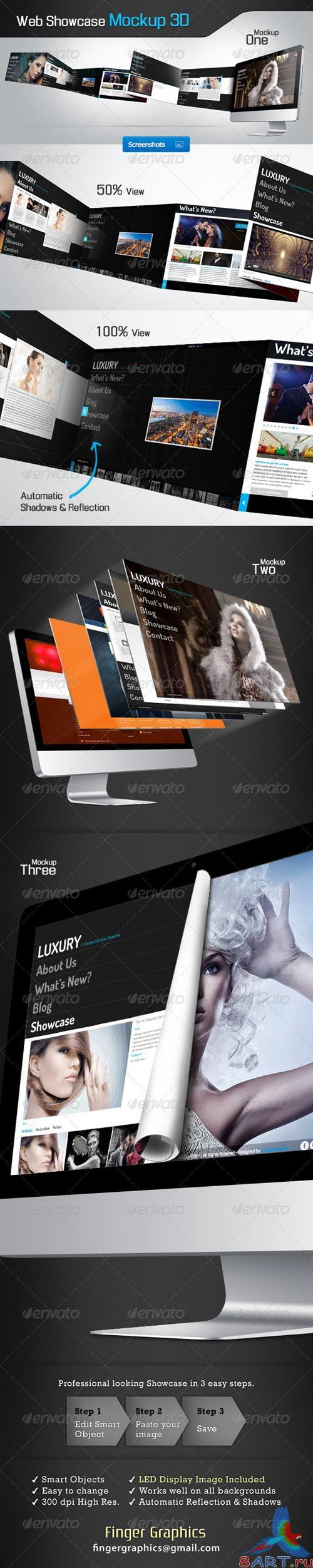 GraphicRiver Web Showcase Mockup - REUPLOAD
