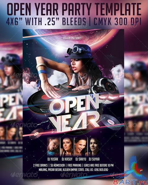 GraphicRiver Open Year Flyer Template