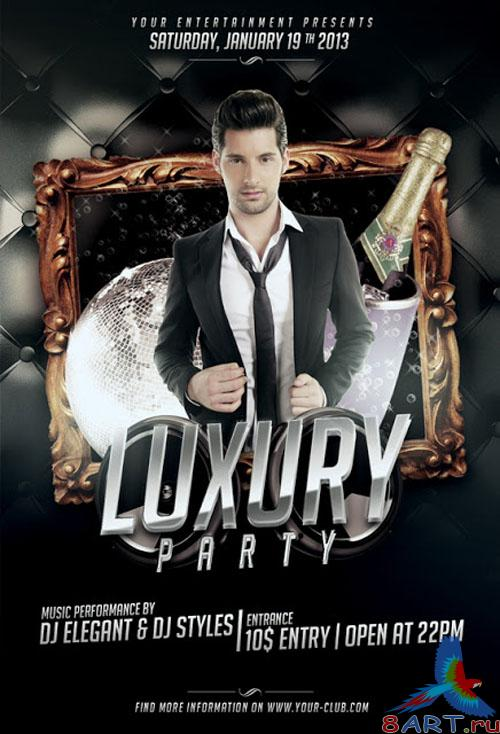 Luxury Party Flyer/Poster PSD Template
