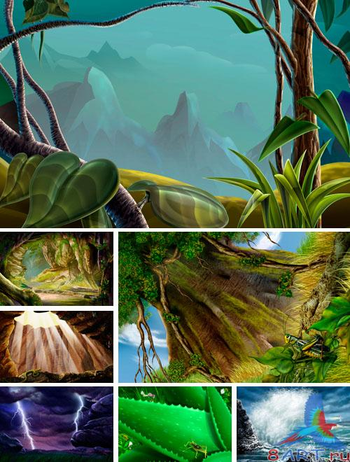 PSD Illustrations - nature 8