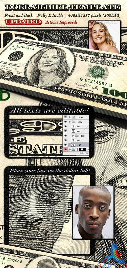 GraphicRiver Dollar Bill Template - Front and Back
