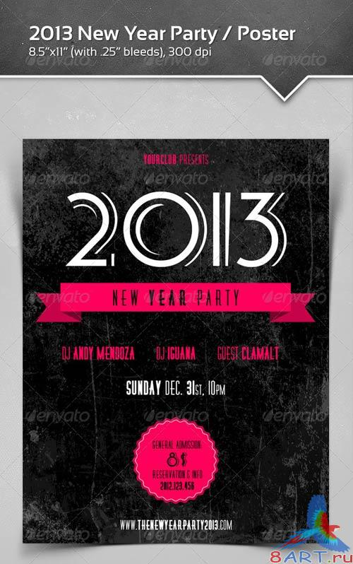 GraphicRiver 2013 New Year Party / Poster