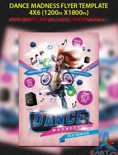 GraphicRiver Dance Madness Flyer