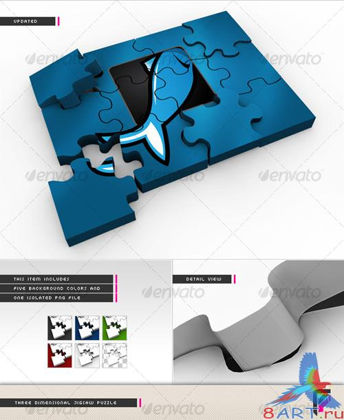 GraphicRiver 3D Jigsaw Puzzle - REUPLOAD