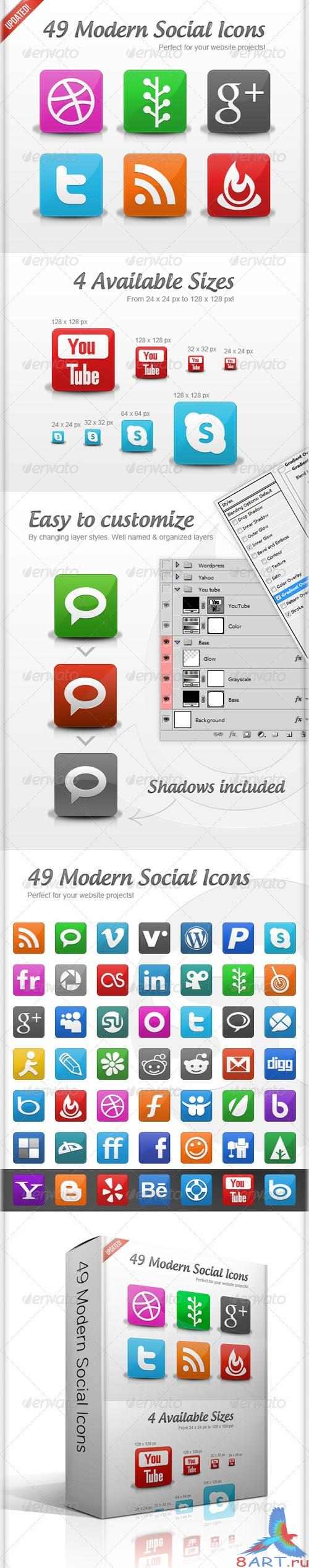GraphicRiver 30 Modern Social Icons - REUPLOAD