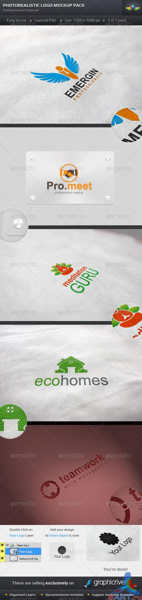 GraphicRiver - Photorealistic Logo Mockup Pack 2678847