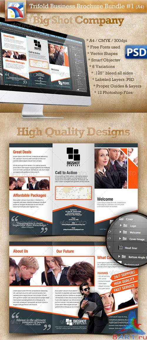GraphicRiver A4 Trifold Brochure Template PSD 6 Variations #1