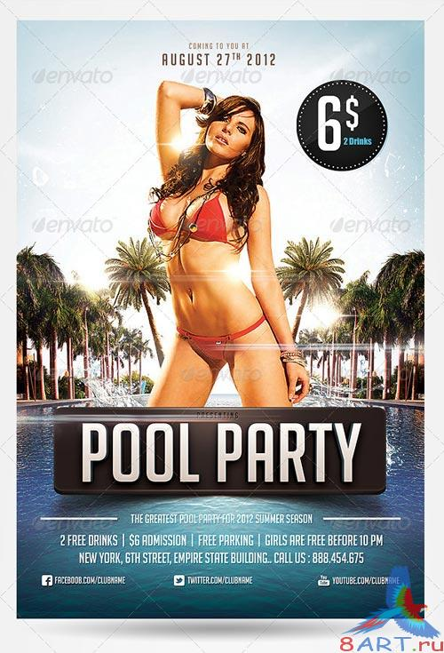 GraphicRiver Pool & Beach party flyers