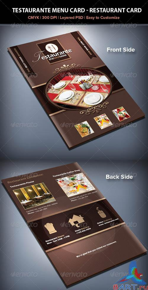 GraphicRiver Testaurante Menu Card