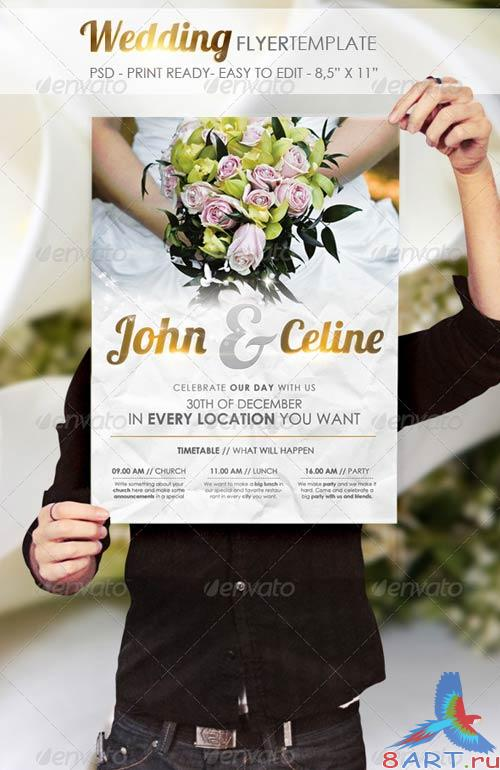 GraphicRiver Wedding - Flyer Template