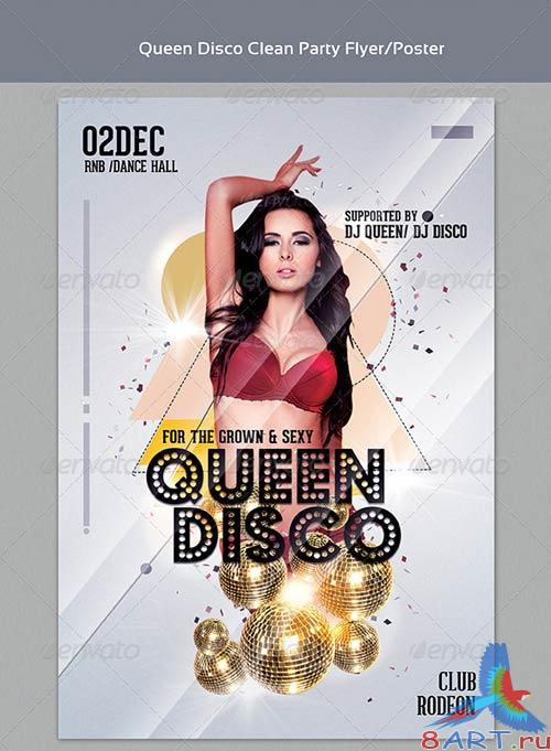 GraphicRiver Queen Disco Clean Party Flyer Templates