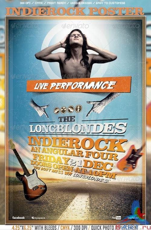 GraphicRiver Indierock Poster/Flyer Template