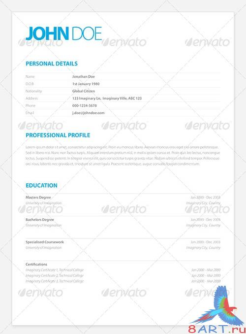 GraphicRiver Clean Elegant Resume