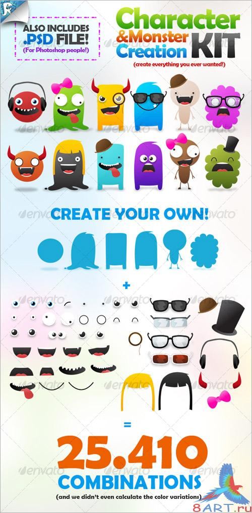 Character & Monster Creation Kit – Create us - GraphicRiver